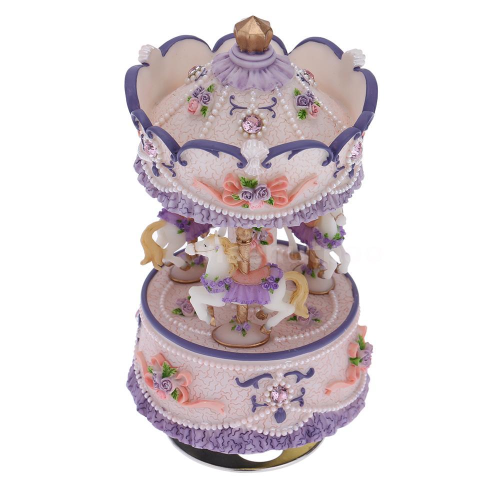... Wooden Merry-Go-Round Carousel Music Box Kids Girls Gift Toy | eBay