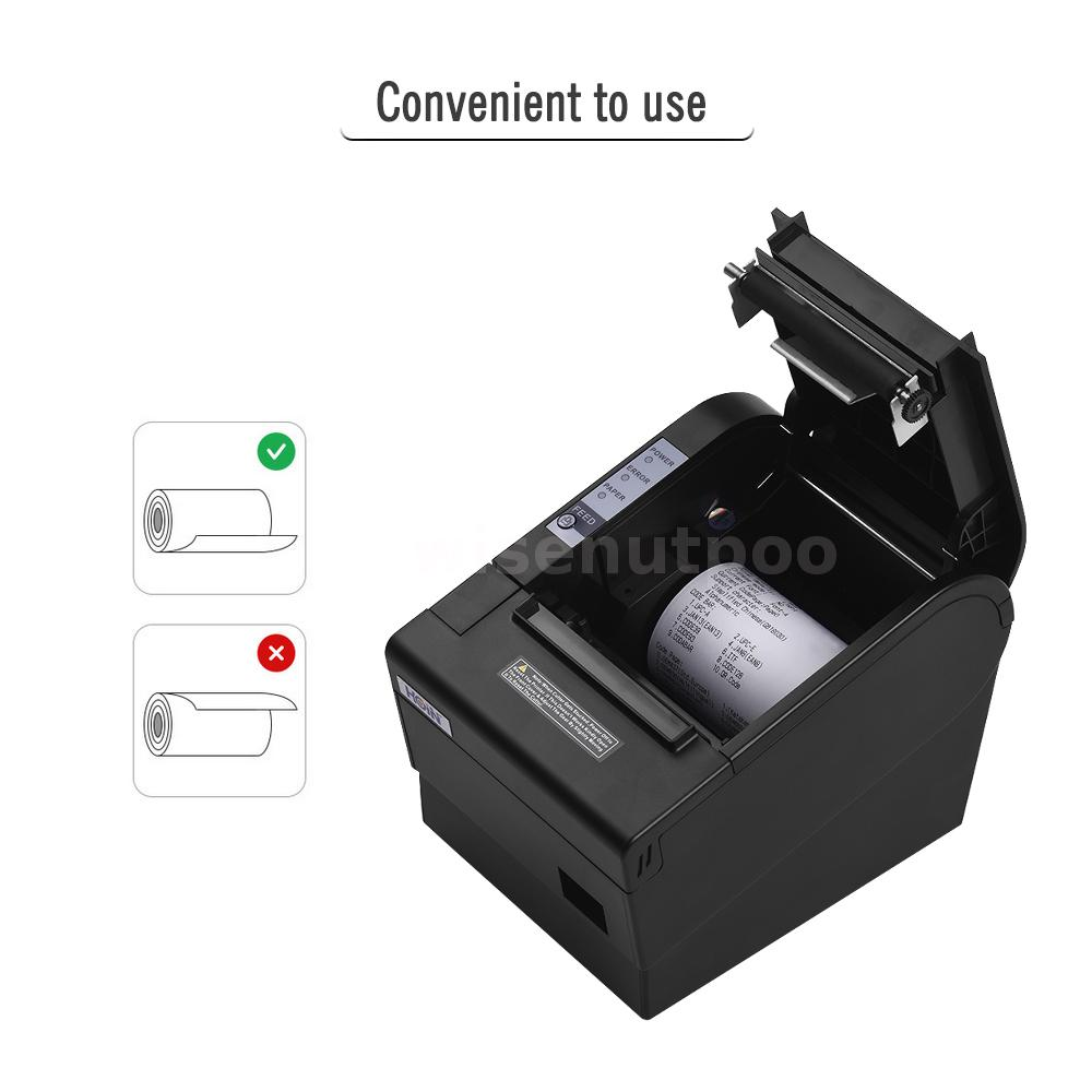 Details about ESC/POS Thermal USB LAN Dot Receipt Printer 80mm 220mm/s  Print Auto Cutter D5M6